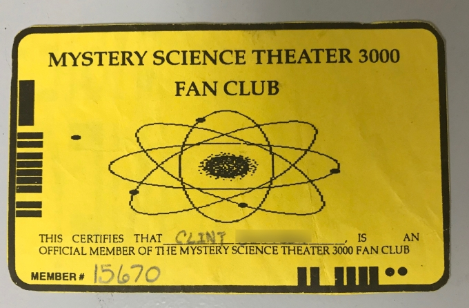 MST3K Fan Club Card
