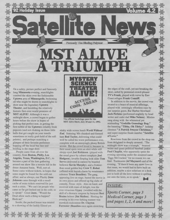 Satellite News Holiday 1992